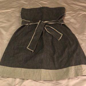 Theory strapless dress (soft denim, nearly new)